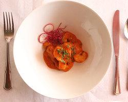Scampis sauce tomatée Maison